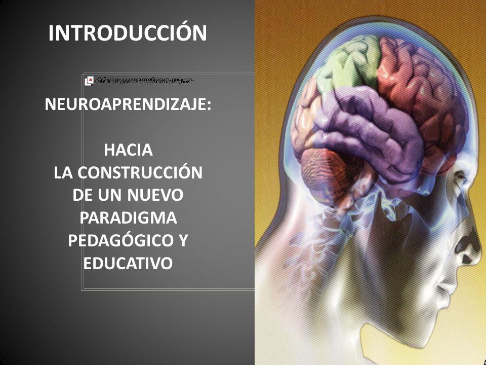 INTRODUCCIÓN NEUROAPRENDIZAJE: HACIA LA CONSTRUCCIÓN DE UN NUEVO PARADIGMA PEDAGÓGICO Y EDUCATIVO