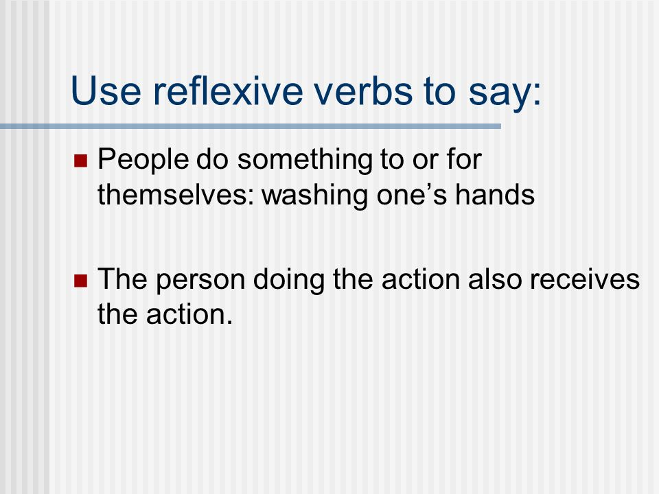 How do you recognize that it is reflexive? The infinitive form end with the letters se