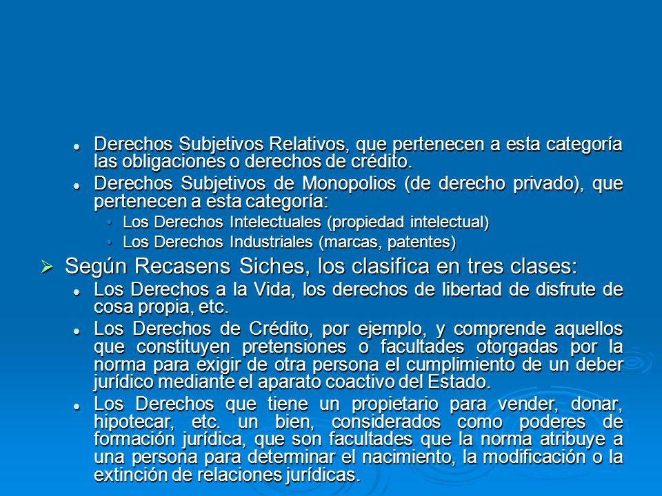 Derechos Subjetivos Relativos, que pertenecen a esta categoría las obligaciones o derechos de crédito. Derechos Subjetivos Relativos, que pertenecen a