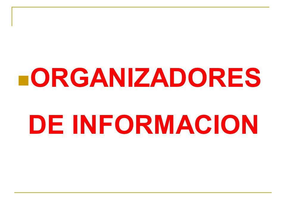 ORGANIZADORES DE INFORMACION