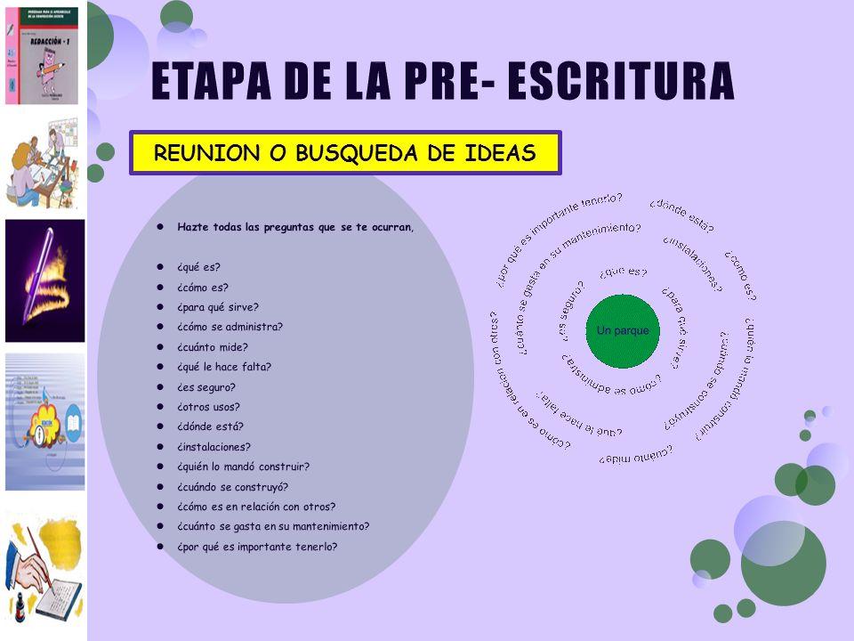REUNION O BUSQUEDA DE IDEAS