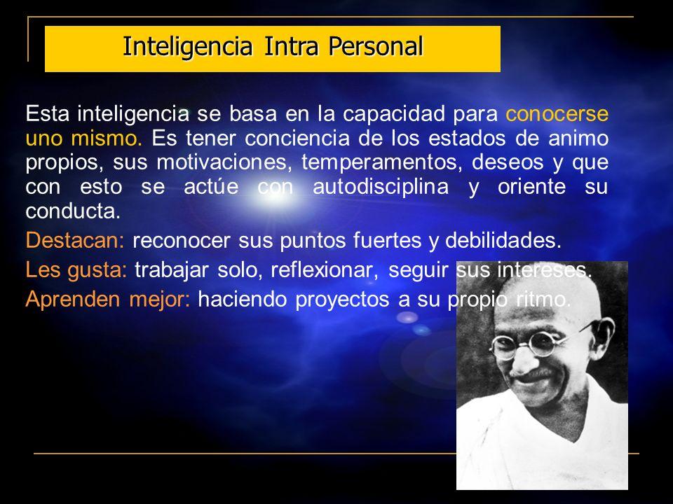 20 Esta inteligencia logra establecer y percibir distinciones en los estados de animo, motivaciones y sentimientos de otras personas. Esto puede inclu