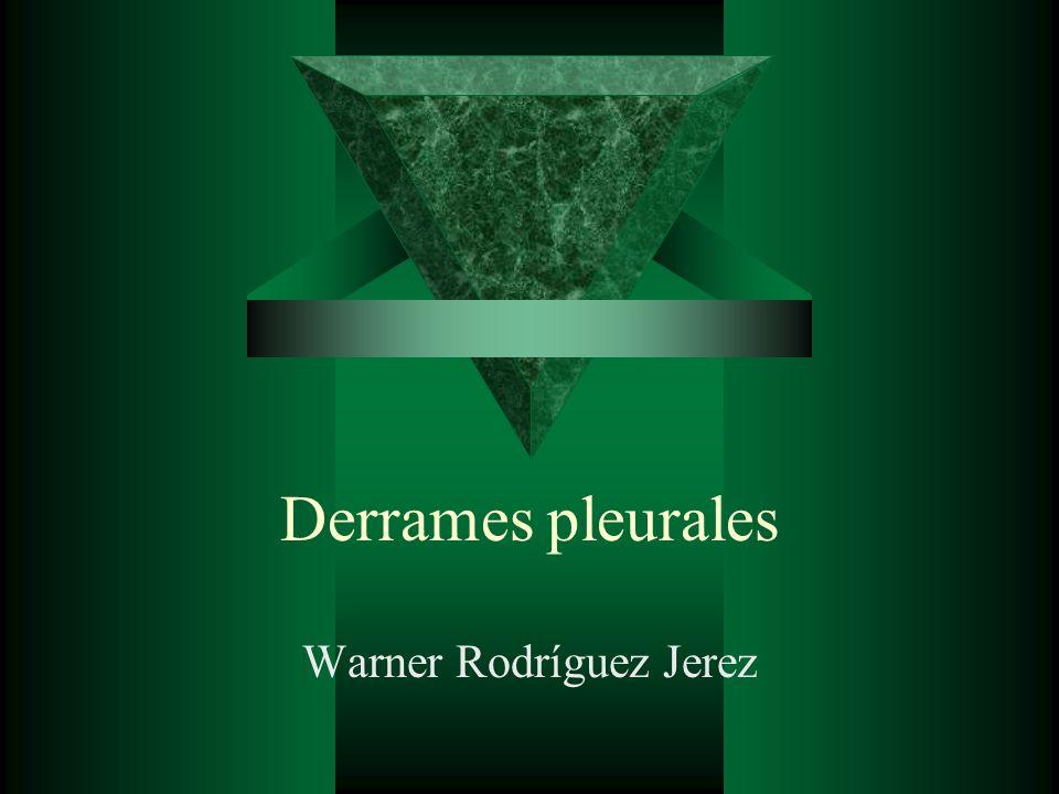 Derrames pleurales Warner Rodríguez Jerez