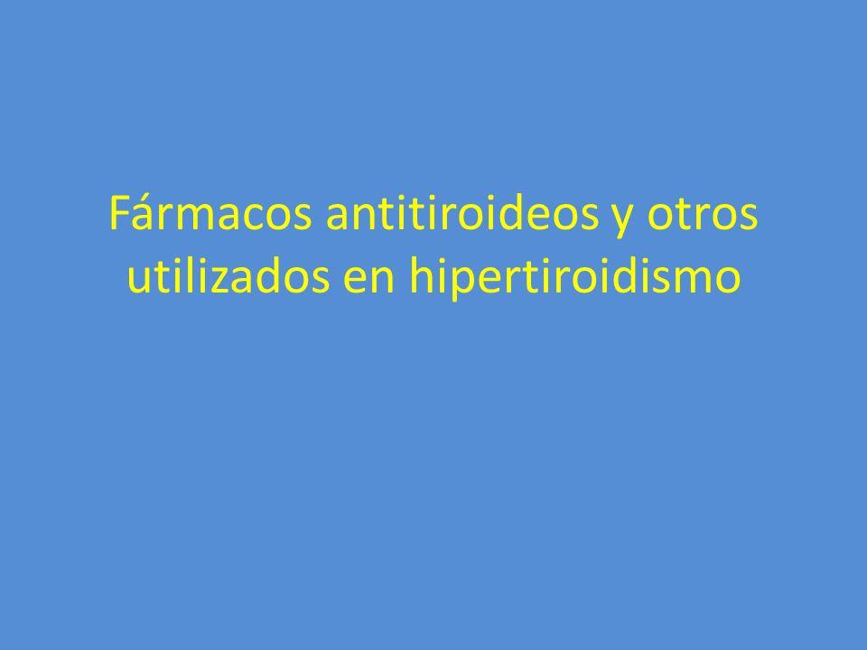 Fármacos antitiroideos y otros utilizados en hipertiroidismo