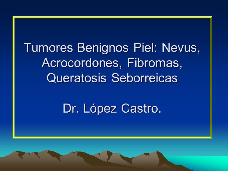 Fibromas No existe consenso en el momento actual acerca de la asociación de estas lesiones con los pólipos de colon aunque se recomienda un estudio de colon en aquellos pacientes que tengan muchas lesiones