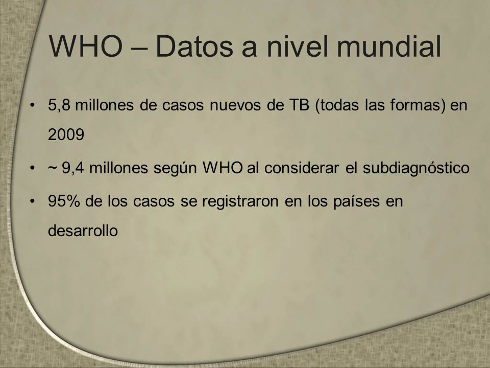 WHO Library Cataloguing-in-Publication Data Global tuberculosis control: WHO report 2011, pp: 48