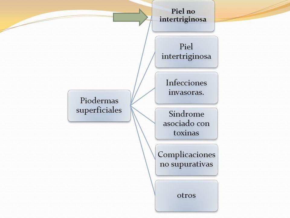 Infecciones y síndromes producidos por toxinas de estreptococo del grupo A Piel no intertriginosa ImpétigoEctima Dactilitis ampollar distal