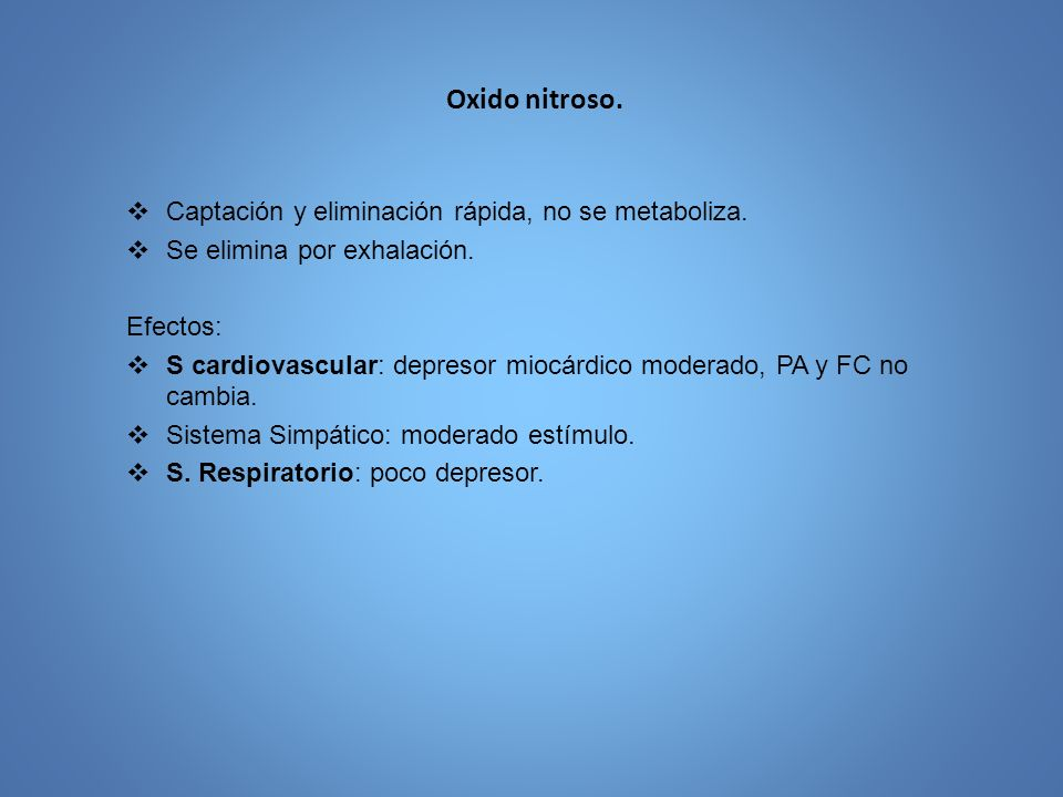 Efectos adversos 1.Irritación tracto respiratorio: desflurane 2.Producción de flúor inorgánico: sevoflurane, enflurane.