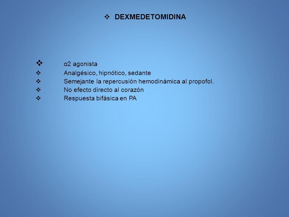 OPIOIDES (Morfina, meperidina, fentanil, alfentanil, remifentanil)
