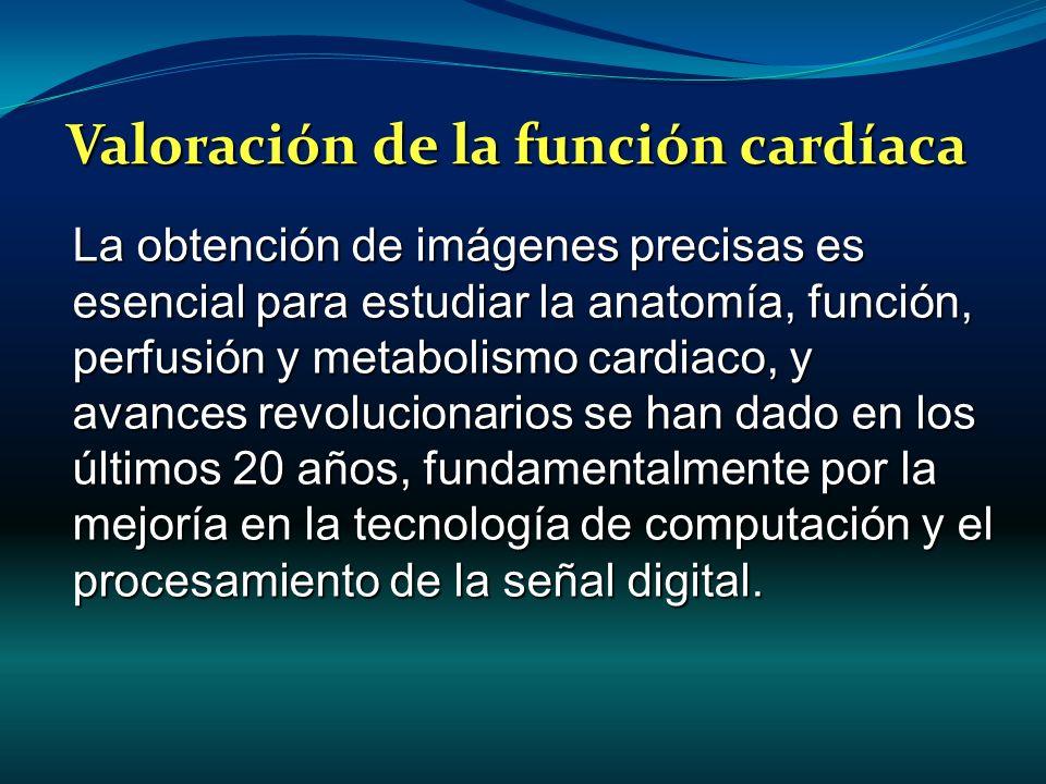 La obtención de imágenes precisas es esencial para estudiar la anatomía, función, perfusión y metabolismo cardiaco, y avances revolucionarios se han d