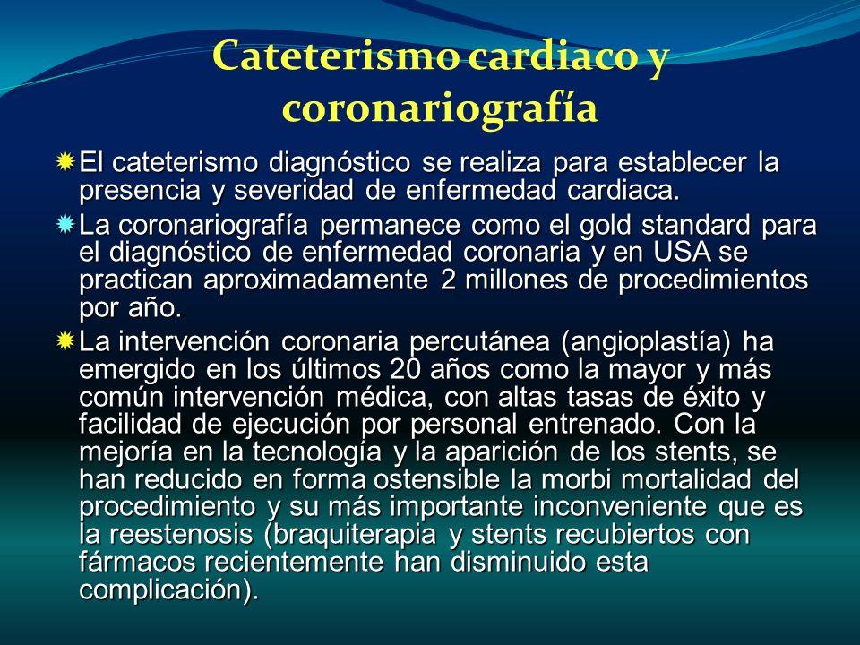 El cateterismo diagnóstico se realiza para establecer la presencia y severidad de enfermedad cardiaca. El cateterismo diagnóstico se realiza para esta