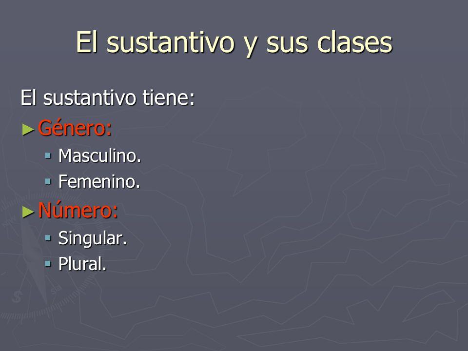El sustantivo y sus clases El sustantivo puede ser núcleo del sujeto en una oración.