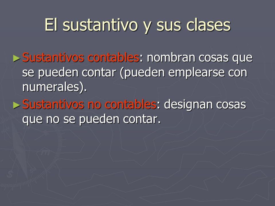 El sustantivo y sus clases Sustantivos individuales: sustantivos que se refieren a una sola cosa en singular.