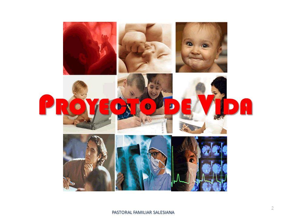 P ROYECTO DE V IDA 2 PASTORAL FAMILIAR SALESIANA