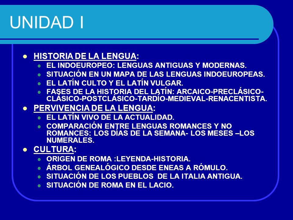 UNIDAD II MORFOLOGÍA: ENUNCIADO DEL SUSTANTIVO.DISTINCIÓN DE DECLINACIONES.