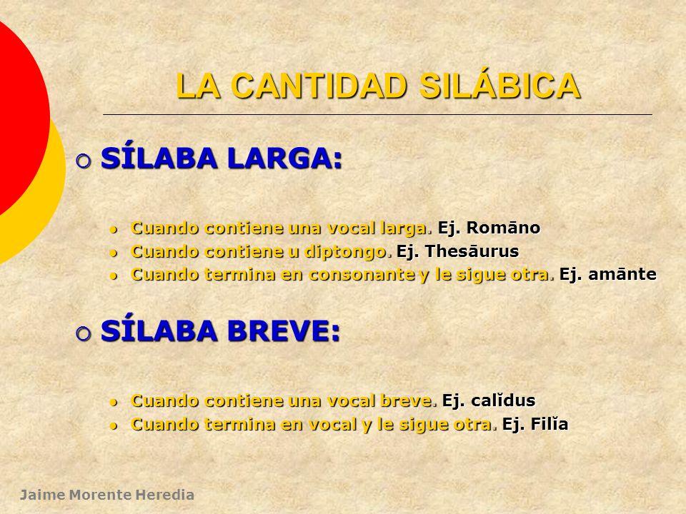 Jaime Morente Heredia SEPARAR SÍLABAS: Para separar sílabas tendremos en cuenta que: Los diptongos (ae, oe, au) van en la misma sílaba: ej. ae-ter-num