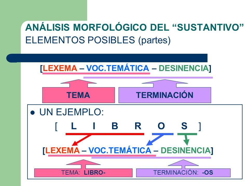 MORFOLOGÍA ELEMENTOS DEL SUSTANTIVO Por: Jaime Morente Heredia