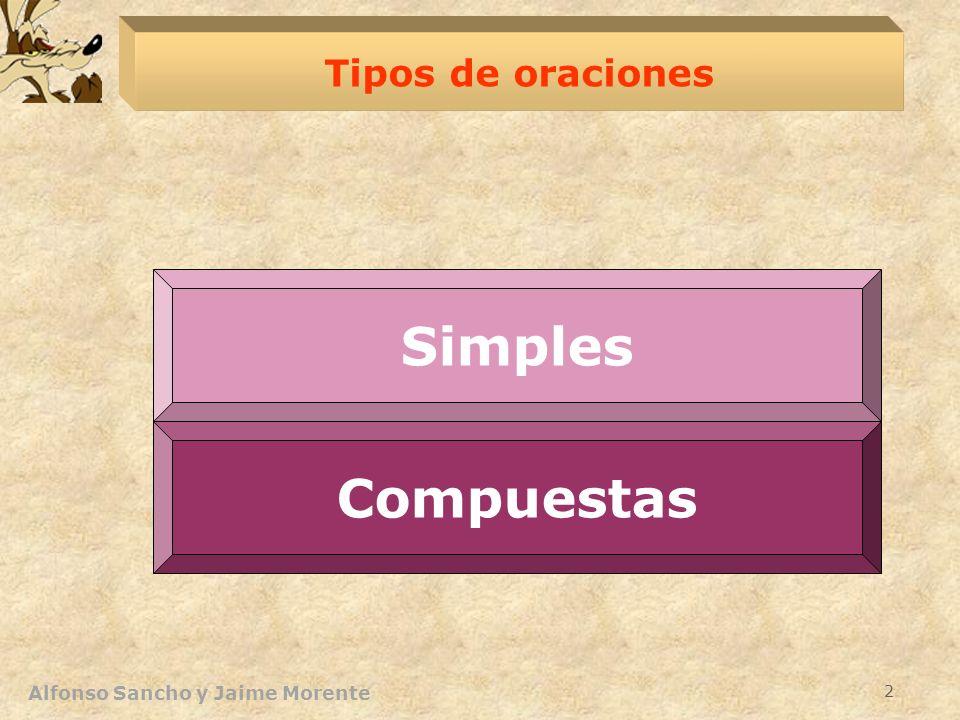 Alfonso Sancho y Jaime Morente 2 Tipos de oraciones Complejas Compuestas Simples