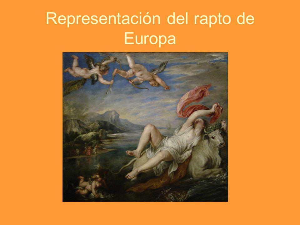Representación del rapto de Europa