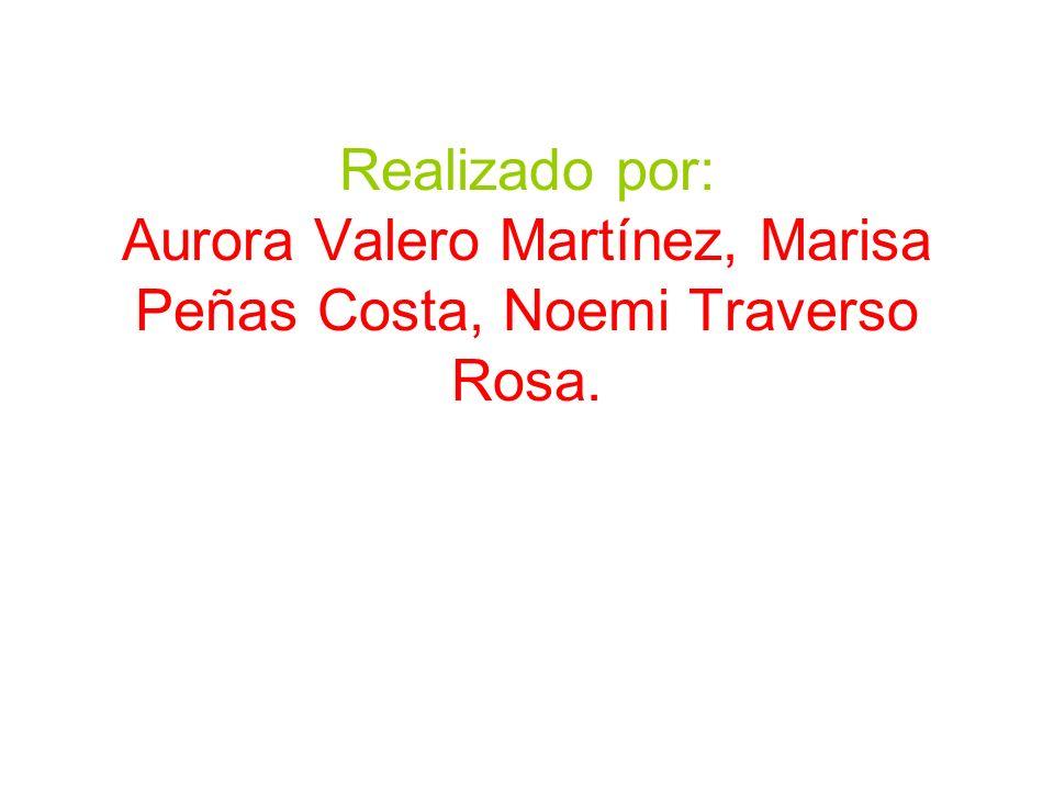 Realizado por: Aurora Valero Martínez, Marisa Peñas Costa, Noemi Traverso Rosa.