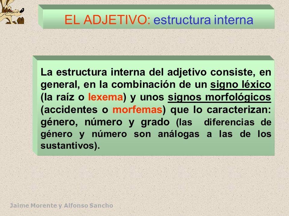 Jaime Morente y Alfonso Sancho EL ADJETIVO: definición y clases * DEFINICIÓN: Son palabras de inventario abierto que aparecen junto al núcleo del sint