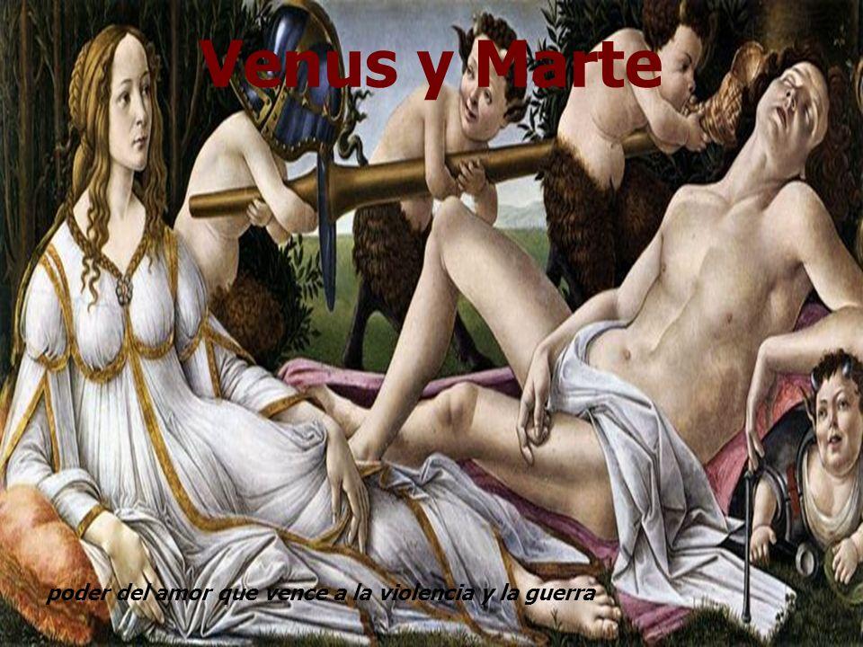 Venus y Marte poder del amor que vence a la violencia y la guerra