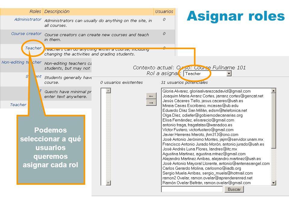 A través de este enlace, el profesor podrá acceder en todo momento el formulario de configuración del curso