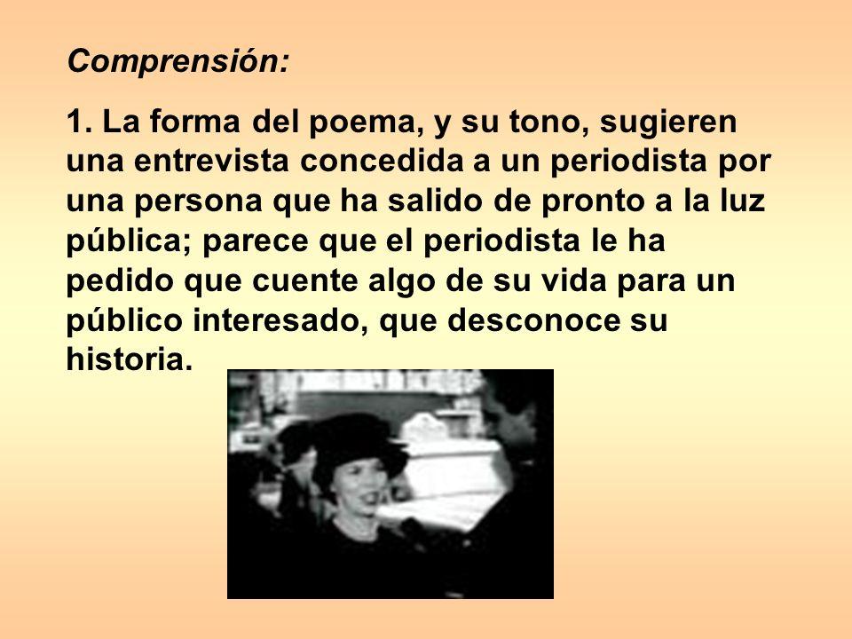 Comprensión: 1.