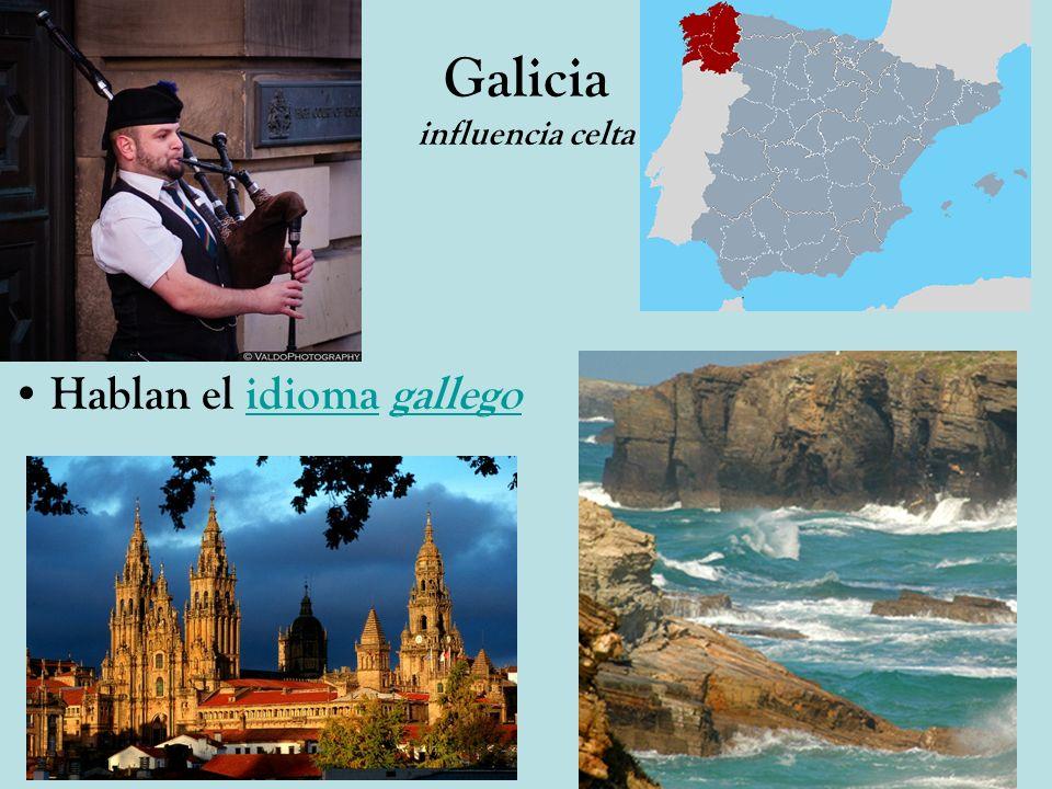 Galicia influencia celta Hablan el idioma gallegoidiomagallego