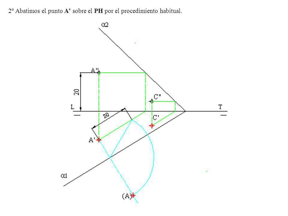 1º Como la circunferencia y la recta tienen que estar en el mismo plano y que un punto y una recta determinan un plano.