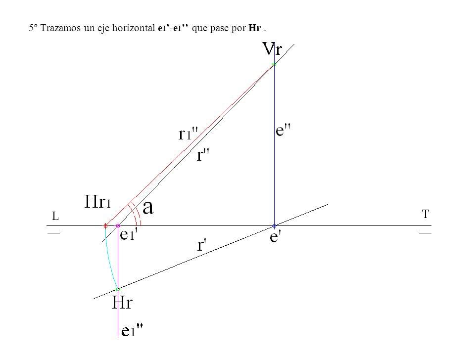 5º Trazamos un eje horizontal e 1 -e 1 que pase por Hr.