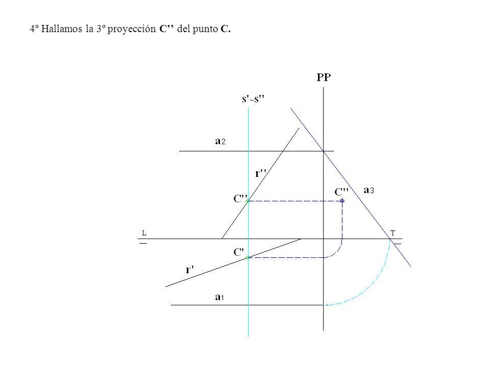 4º Hallamos la 3º proyección C del punto C.