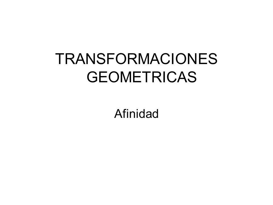 4º.- Trazamos el diámetro ED perpendicular al AB, por A, B, C y D trazamos paralelas a la dirección de afinidad que nos determina directamente A y B.