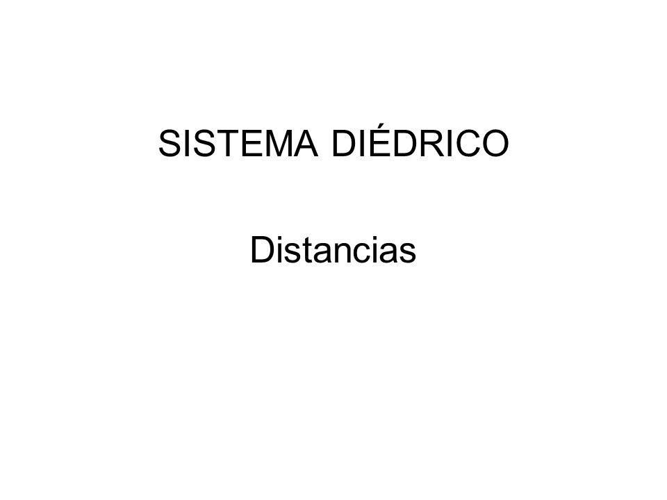 5º Hallamos la distancia en verdadera magnitud.