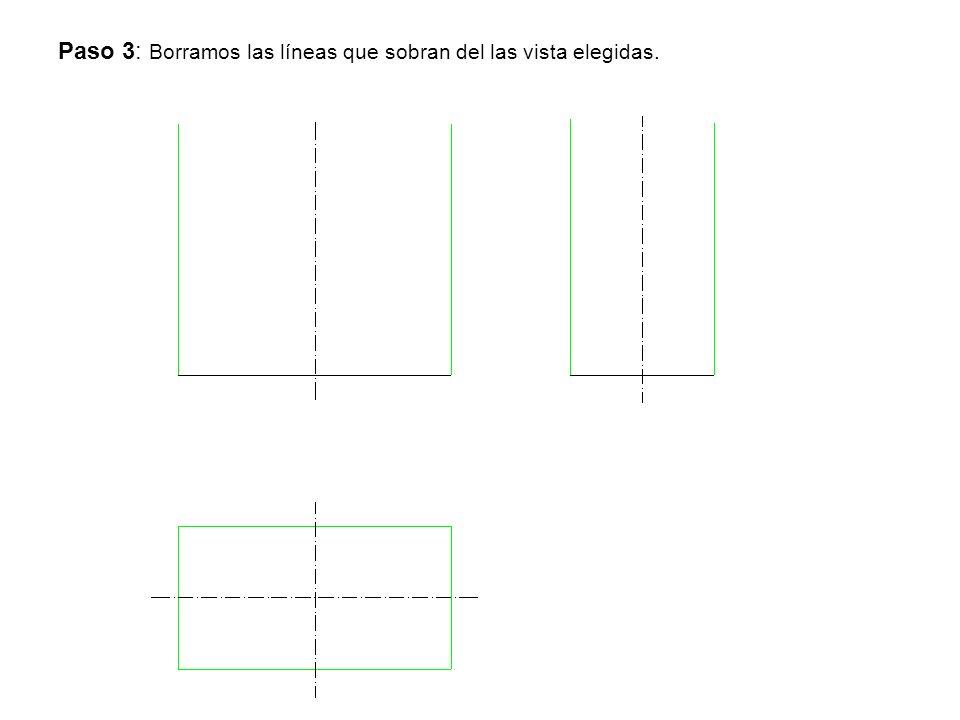 Paso 3: Borramos las líneas que sobran del las vista elegidas.