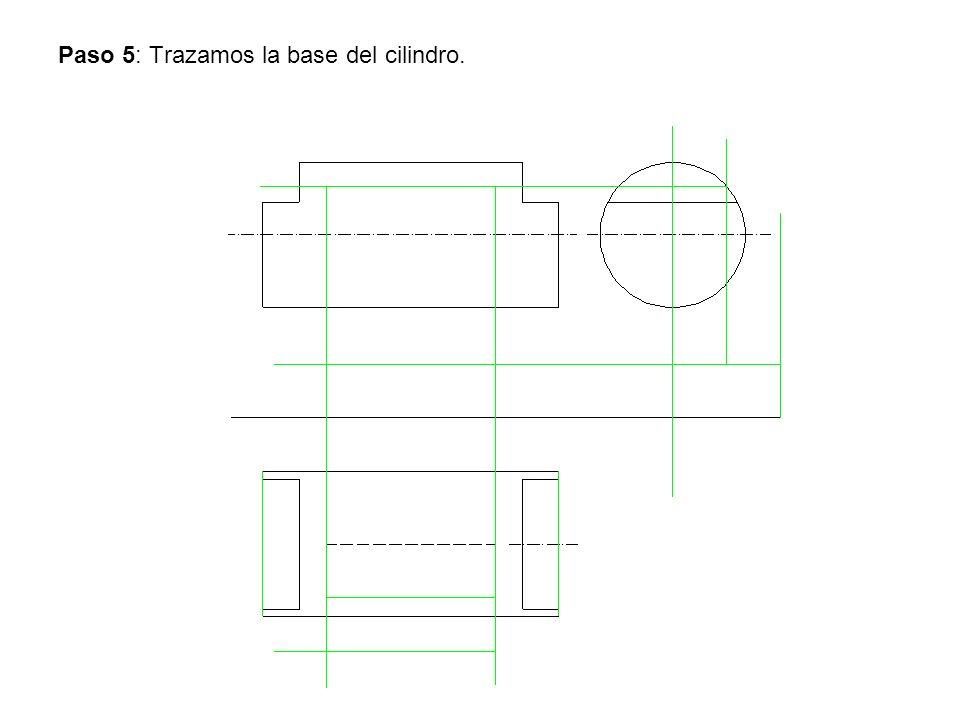 Paso 5: Trazamos la base del cilindro.