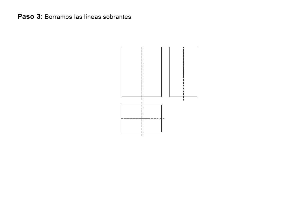 Paso 3: Borramos las líneas sobrantes