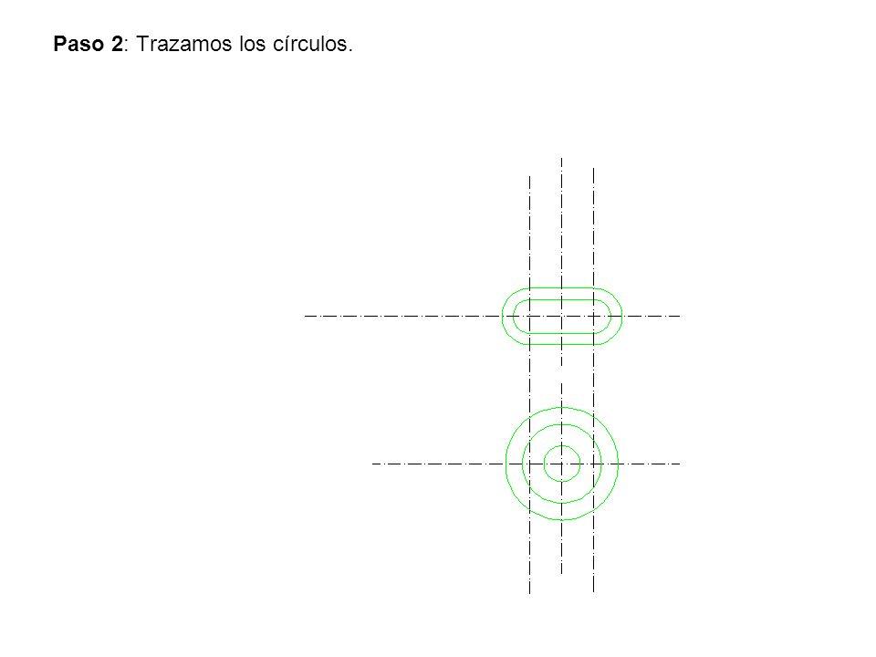 Paso 2: Trazamos los círculos.