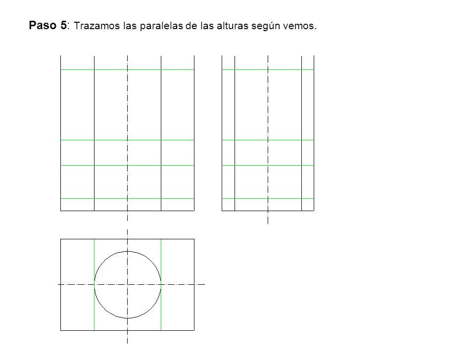 Paso 5: Trazamos las paralelas de las alturas según vemos.