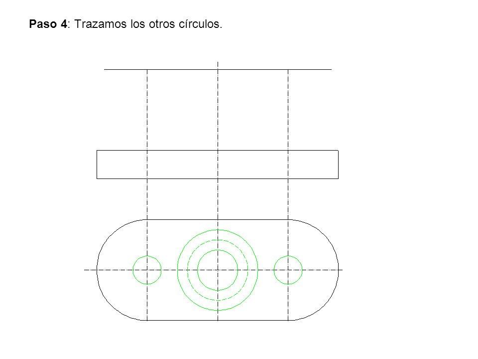 Paso 4: Trazamos los otros círculos.