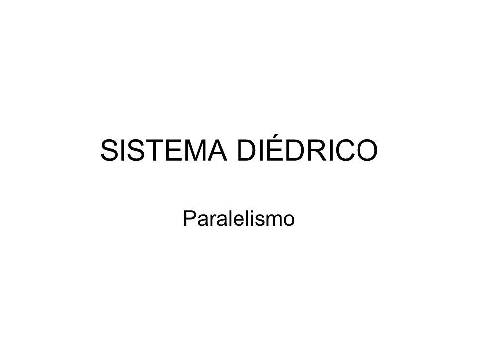SISTEMA DIÉDRICO Paralelismo