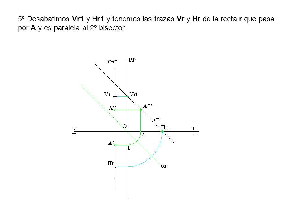 3º Determinamos la intersección de la recta r -r con el plano β mediante el proyectante γ1-γ2 que nos determina la recta i -i intersección de los planos β y γ.
