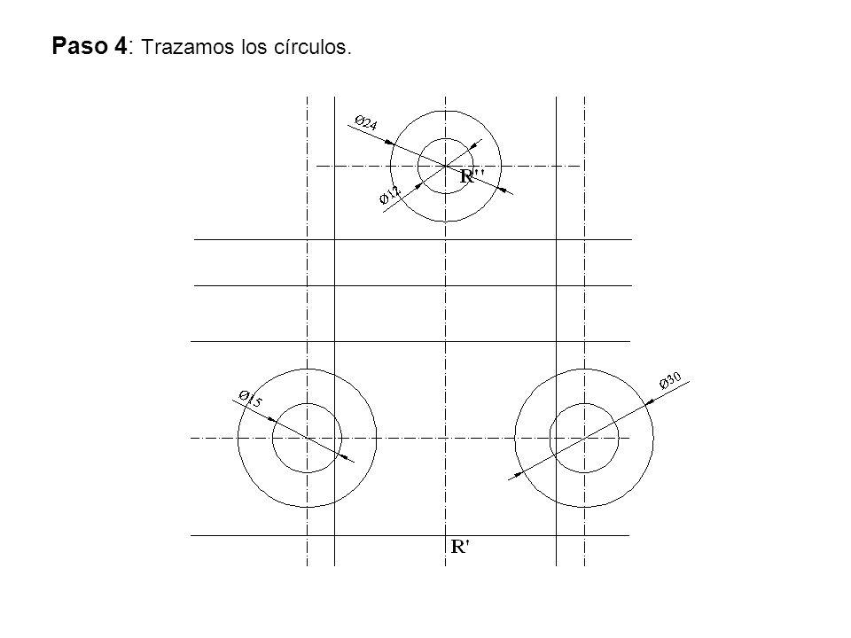 Paso 4: Trazamos los círculos.