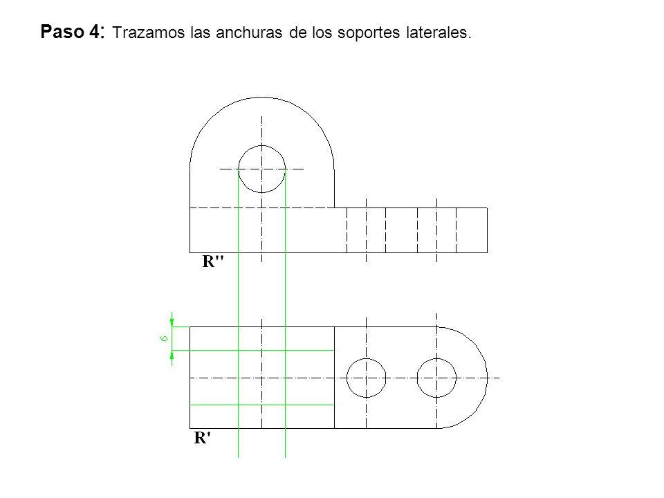 Paso 4 : Trazamos las anchuras de los soportes laterales.