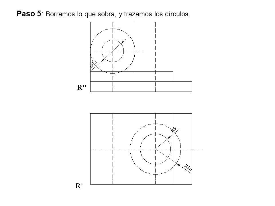 Paso 5: Borramos lo que sobra, y trazamos los círculos.