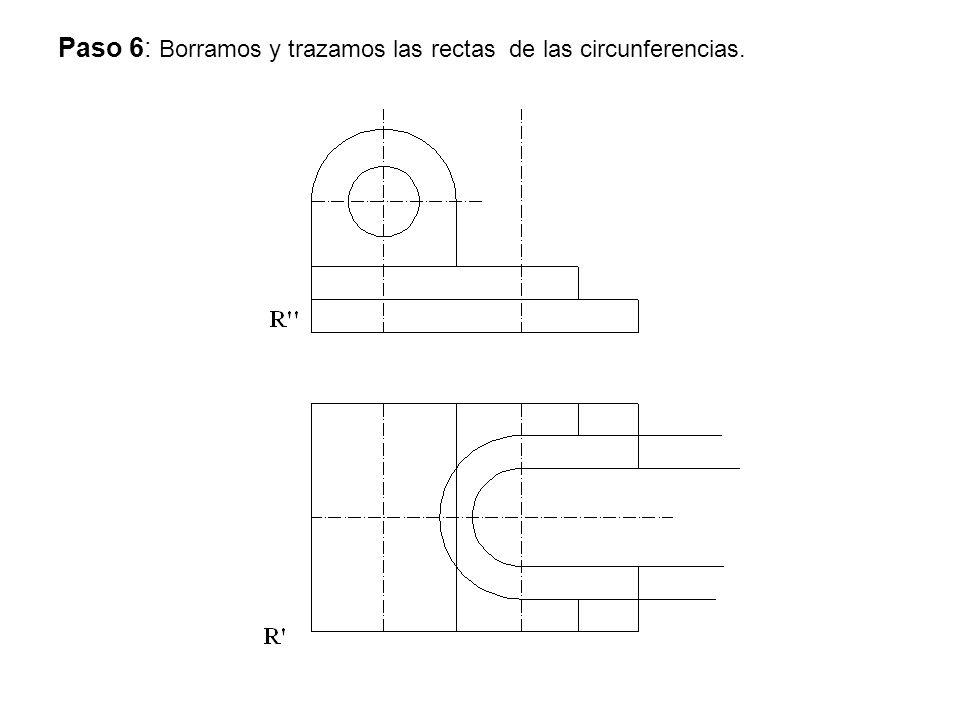 Paso 6: Borramos y trazamos las rectas de las circunferencias.