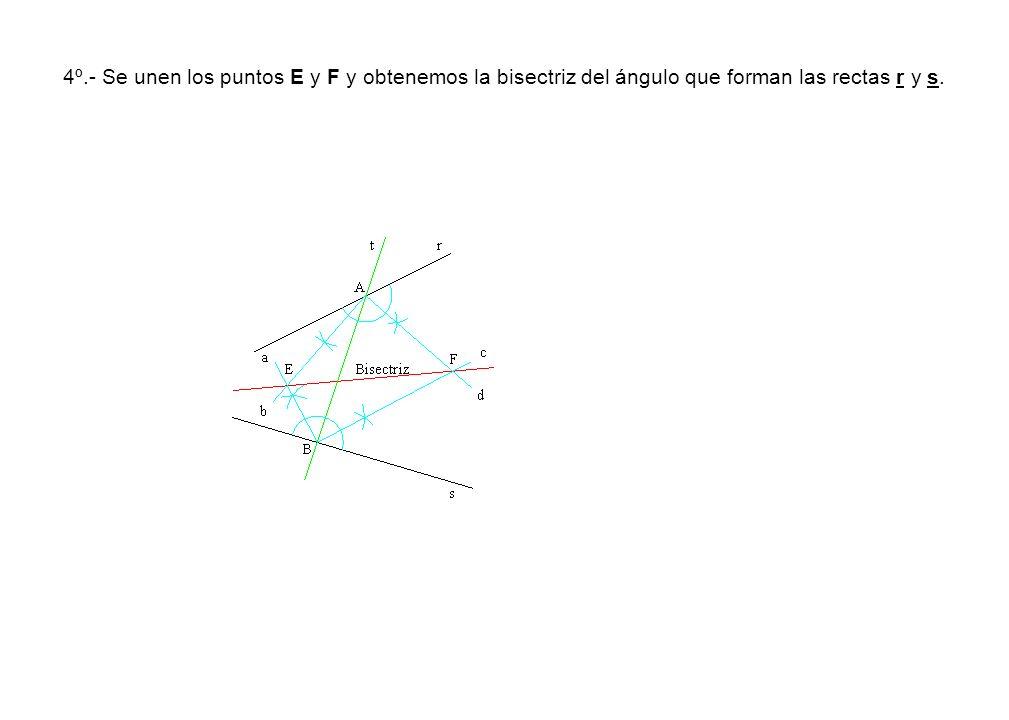 2º.- Trazamos por el vértice B la perpendicular B1 al lado AB.