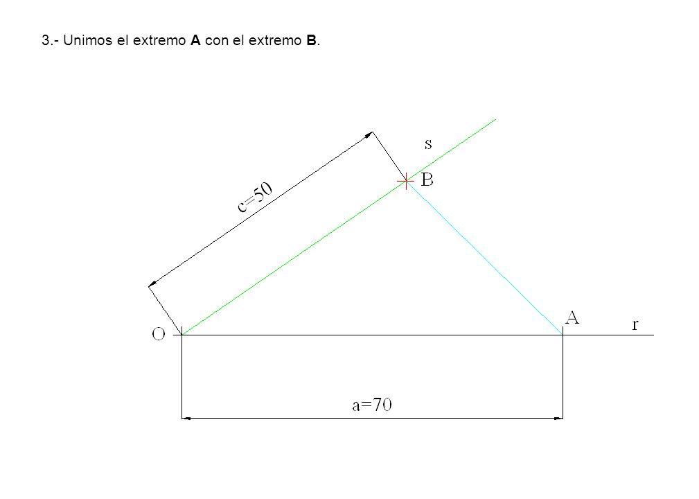 3.- Unimos el extremo A con el extremo B.