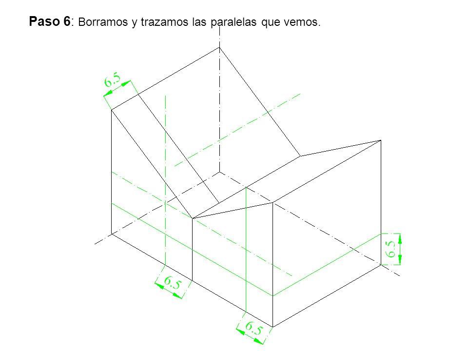 Paso 6: Borramos y trazamos las paralelas que vemos.
