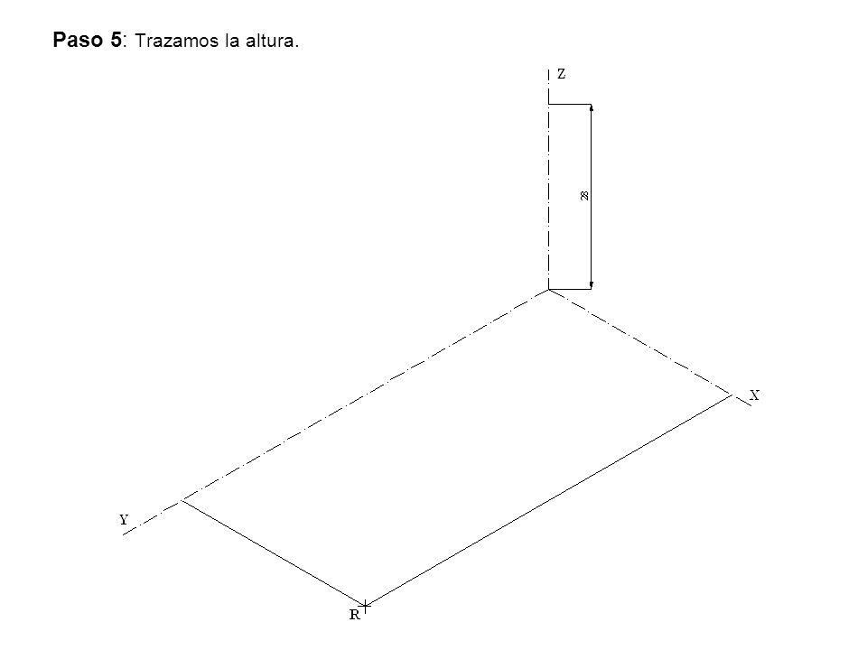 Paso 5: Trazamos la altura.